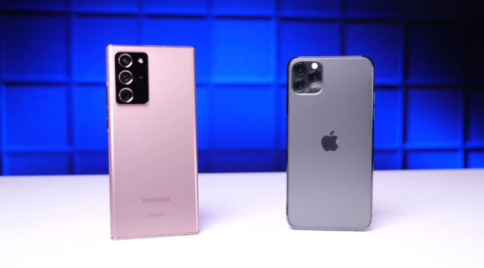 iPhone 11 pro Max vs Samsung Note 20 Ultra